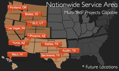 Nationwide Service Area